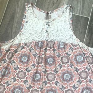 Crocheted-chest Tank Top
